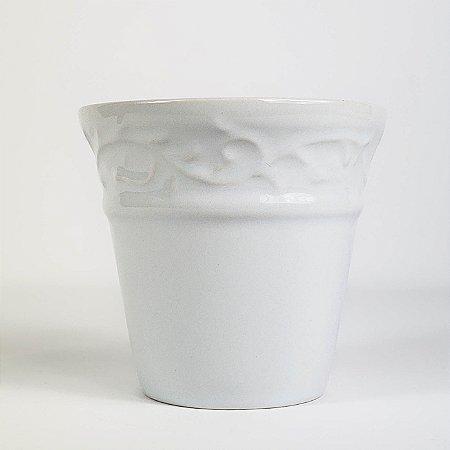 Vaso de Cerâmica Branco - 8,5x8