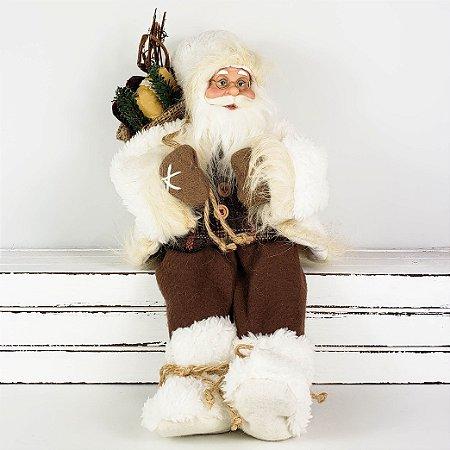 Papai Noel Laminador Sentado - 35cm