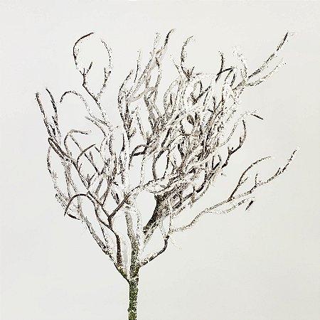 Galho Natalino Nevado Branco - 40cm