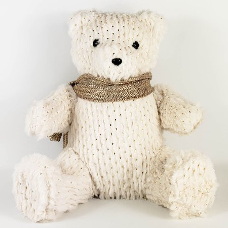 Urso com Poá Dourado - 24cmx24cm