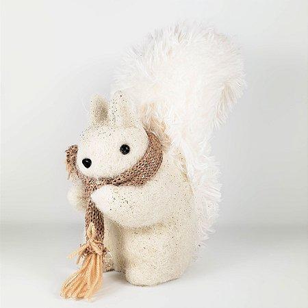 Esquilo Natalino c/ Glitter - 27cm