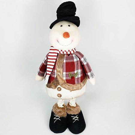 Boneco de Neve Candy Retrátil - 75cm