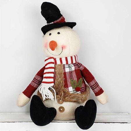 Boneco de Neve Candy Sentado - 31cm