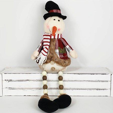 Boneco de Neve Candy Miçangas - 43cm