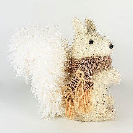 Esquilo Natalino c/ Glitter - 18cm