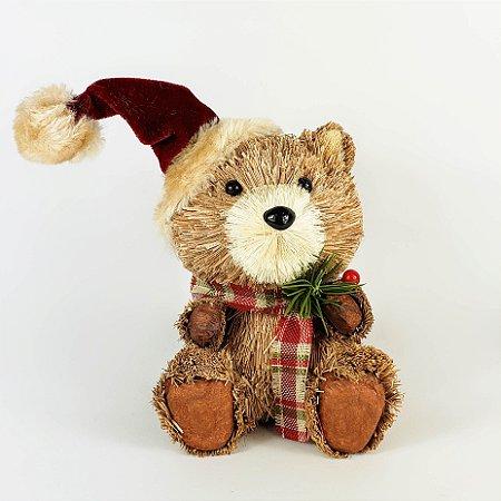 Urso Rústico Sentado - 14cmx10cm
