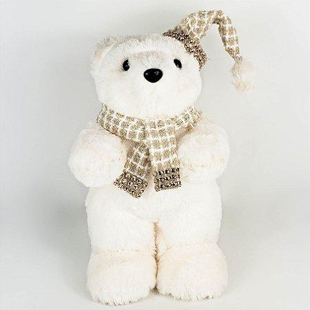 Urso em Pé Snow - 25cm