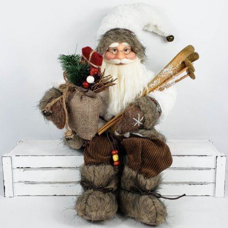 Papai Noel Laminador Sentado - 45cm