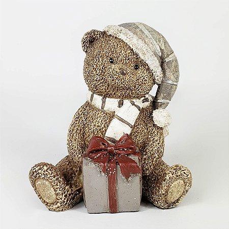 Urso Natalino de Resina c/ Toca - 8,5cm