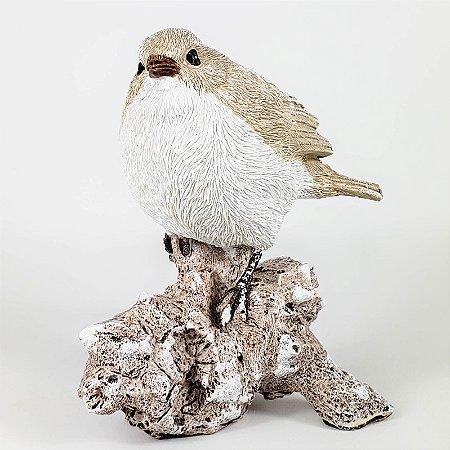 Pássaro Decorativo de Resina - 13cmx12cm