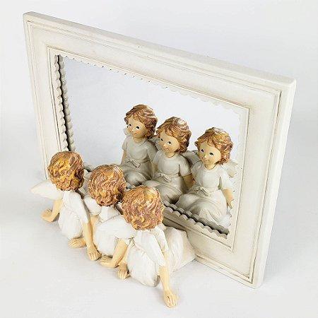 Espelho de Anjos - 19cmx14cm