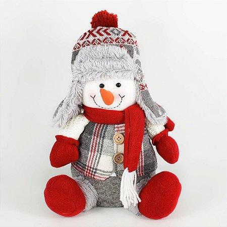 Boneco de Neve de Pelúcia - 30cm
