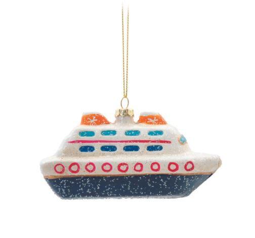 Barco Decorativo p/ Pendurar - 12cm