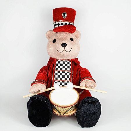 Urso Tocando Tambor Christmas Parade - 40cm