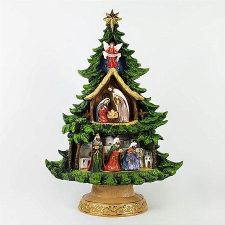 Presépio no Pinheiro de Natal - 28cm