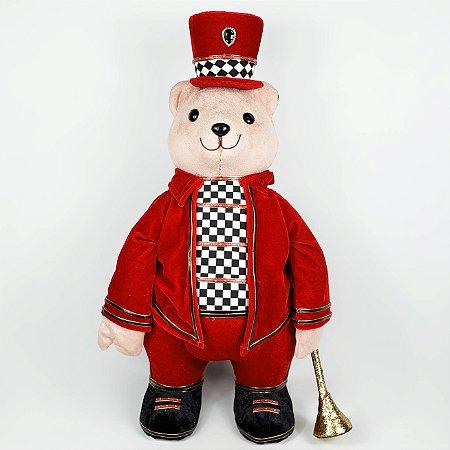 Urso c/ Corneta Christmas Parade - 56cm