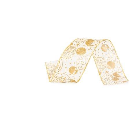 Fita Aramada Pérola c/ Dourado - 9m