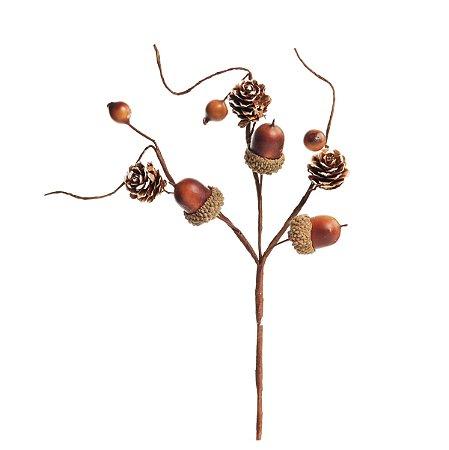 Pick de Nozes c/ Pinhas e Sementes - 23cm