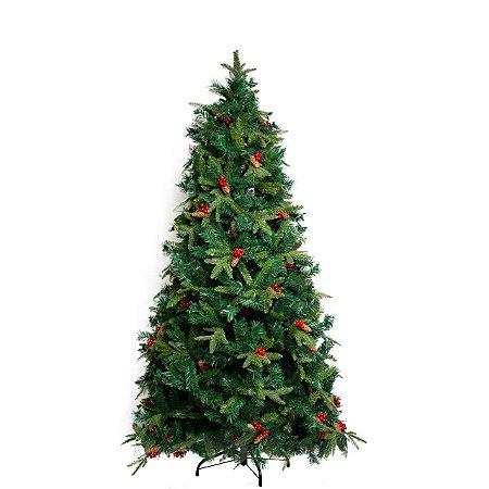 Árvore de Natal Pinha e Berry - 2,10m