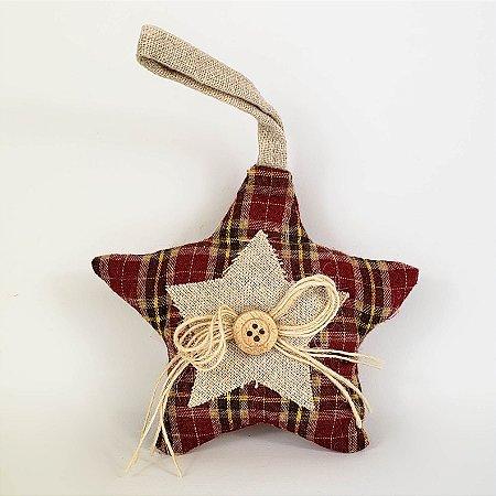 Estrela p/ Pendurar - 10cmx11cm