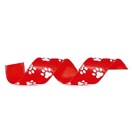 Fita Aramada Vermelha Pegadas - 9m