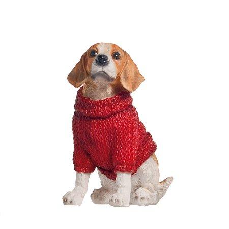 Cachorro de Suéter - 12cmx5cmx8cm
