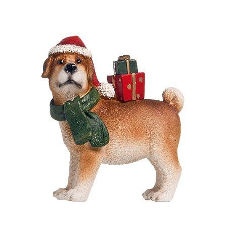 Cachorro Trazendo os Presentes - 13cmx10cmx4cm