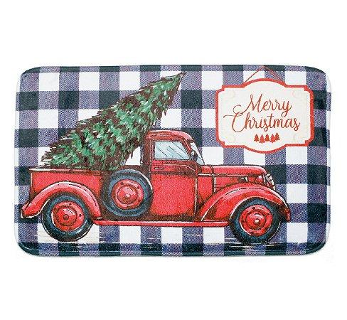 Tapete Merry Christmas Caminhão da Fazenda - 40cmx60cm