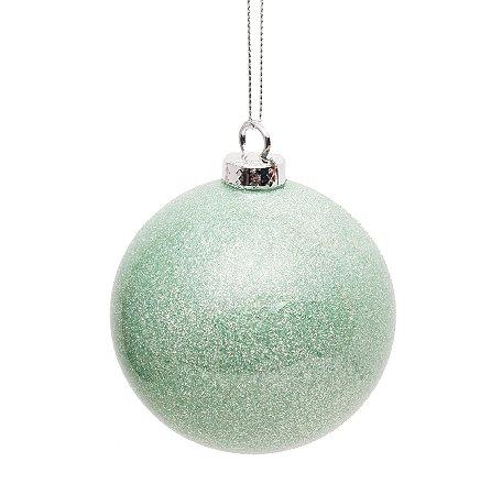 Bolas de Natal Verde Hortelã com 4 Unid. - 10cm