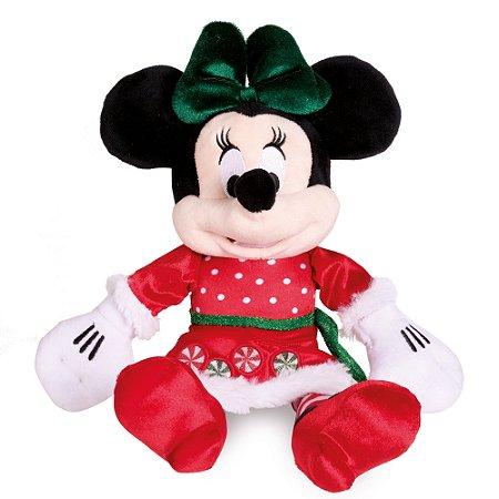 Minnie de Pelúcia Vestido Natal - 33cm