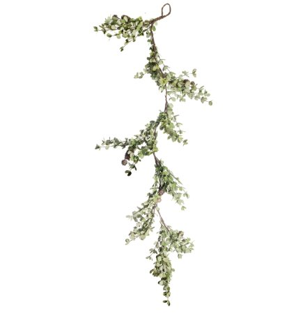 Festão de Folhas e Pinhas - 120cm