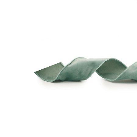 Fita Aramada de Veludo Verde Hortelã - 9m