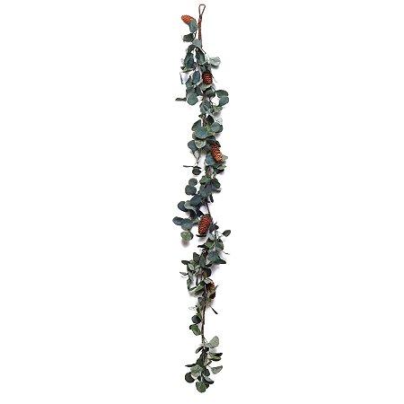 Festão de Eucalipto e Pinhas - 145cm