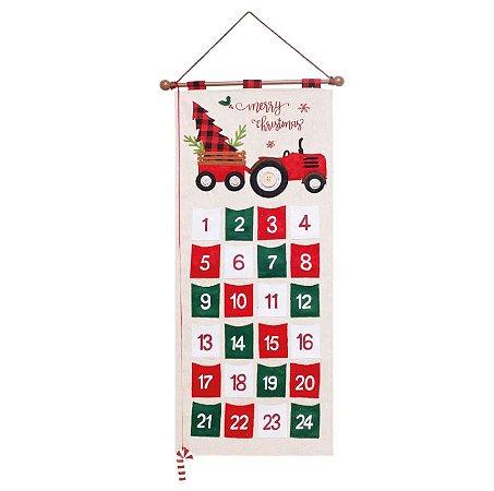 Calendário de Natal Com Bolsos - 95cmx47cm
