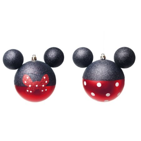 Caixa com 4 Bolas Disney Mickey & Minnie - 8cm
