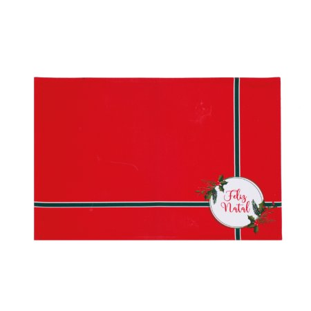 Jogo Americano Feliz Natal - 33cmx48cm