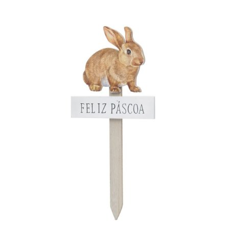 Placa de Coelho - Feliz Páscoa