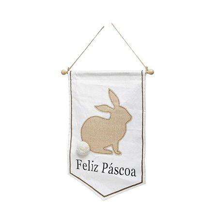 Bandeirola de Coelho - Feliz Páscoa