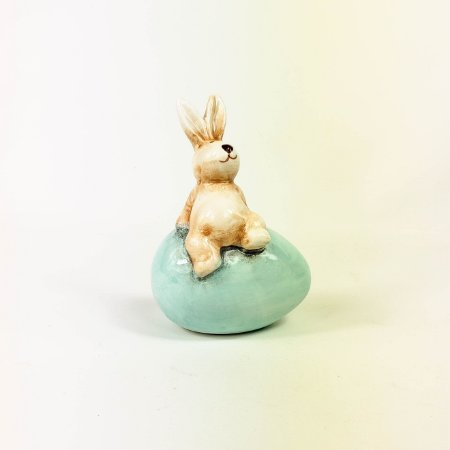 Coelho Cerâmica - Ovo Azul