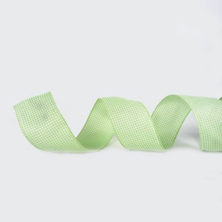Fita de Tecido Aramado - Verde / Xadrez