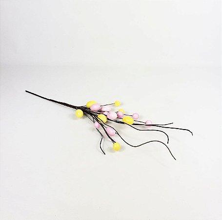 Ramo de Páscoa - Ovos / Rosa e Amarelo