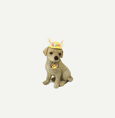 Cachorro de Páscoa em Resina