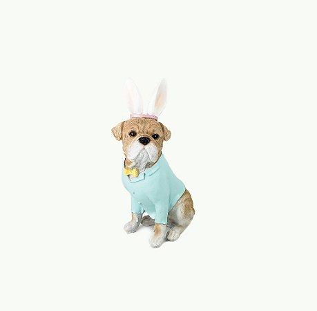 Cachorro de Páscoa em Resina -  Azul