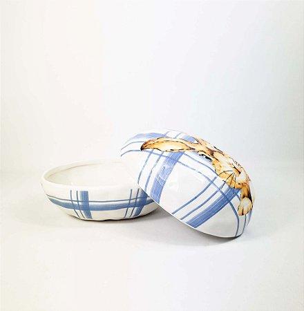 Ovo Decorativo - Azul/Xadrez
