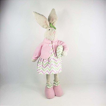 Coelha de Tecido - Rosa