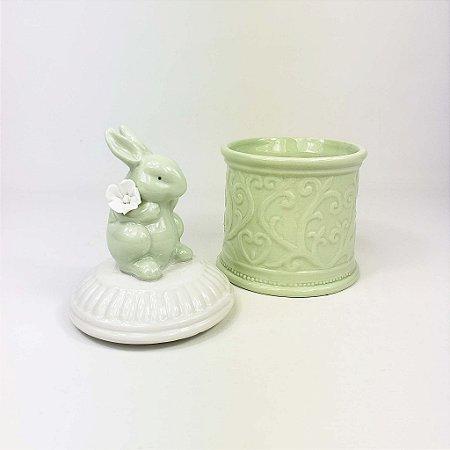 Pote de Cerâmica  Coelho - Verde