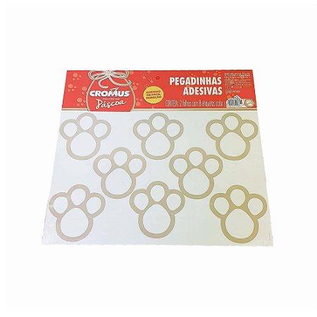 Adesivos de Patinhas - Dourado/Médio