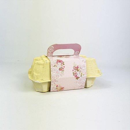Caixa Para Ovos -  Flores/Amarelo
