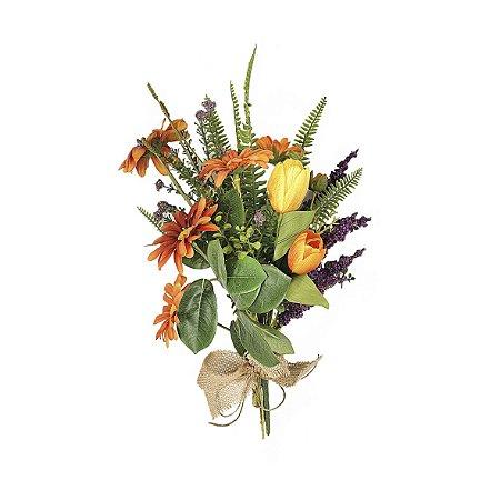 Buquê de Flores - Amarelo/Laranja