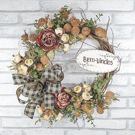 Guirlanda de Flores - Tons Outonais/Bem Vindos